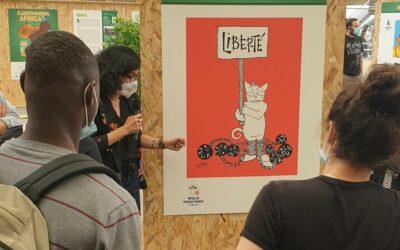 Les enfants du SAU 92 à la rencontre de caricaturistes